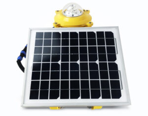 solar aircraft warning light