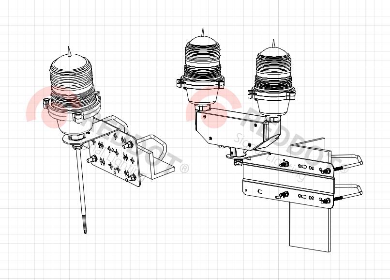 Кронштейн AKU-VB для OL32-100 одинарный и двойной