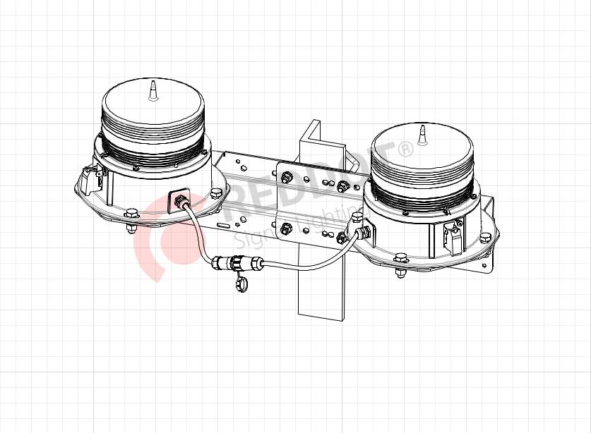Кронштейн AMP-D для солнечных двойных авиационных фонарей PL10D-PL32D
