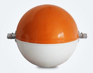 مجال التحذير من الطائرات علامة باورلاين برتقالي أبيض 1