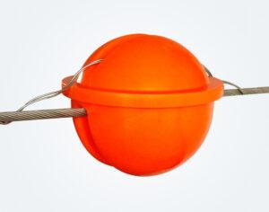 مجال تحذير الطائرات 300mm_Power Line marker_Orange