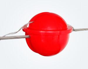 مجال تحذير الطائرات Power Line marker Red1