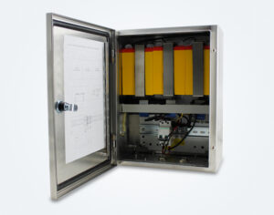backup battery box for obstruction lighting system