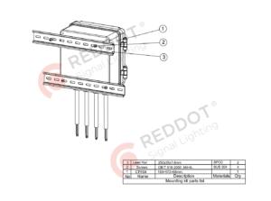 Suporte de trilho DIN ACMB 001 para wireframe de controladores