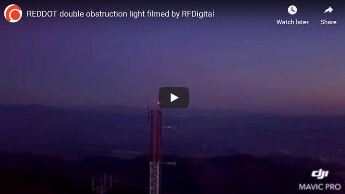 Luz de advertencia de doble aeronave REDDOT de baja intensidad para torres de telecomunicaciones